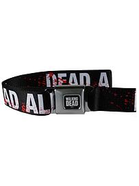 The Walking Dead Dead Already Black Seatbelt Belt: One Size Clothing