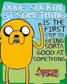 Adventure Time Suckin' AT Mini Poster 30x40cm Posters