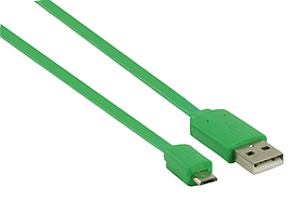 1m Flat USB 2.0 Micro USB Data And Charge Cable Green Mobile phones