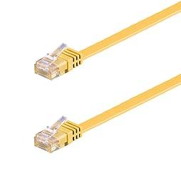 15m Cat6 Flat UTP Network RJ45 LAN Patch Lead Yellow PC