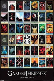 Game of Thrones Episodes Poster 61x91.5cm Posters
