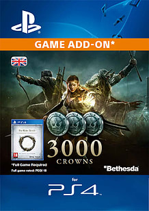 Elder Scrolls Online: Tamriel Unlimited - 3,000 Crowns PlayStation 4