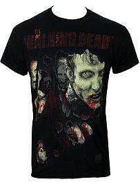 The Walking Dead Zombie Rip Black Men's T-shirt: Medium (Mens 38 - 40) Clothing