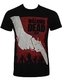 The Walking Dead Revolver Black Men's T-shirt: Extra Large (Mens 42- 44) Clothing