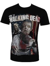 The Walking Dead Zombie Black Men's T-shirt: Large (Mens 40- 42) Clothing