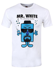 Mr. White The Chemistry Teacher White Men's T-shirt: Extra Large (Mens 42- 44) Clothing