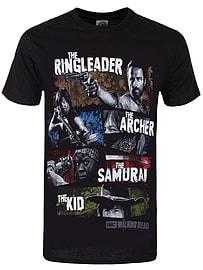 The Walking Dead Four Survivors Black Men's T-shirt: Extra Large (Mens 42- 44) Clothing