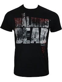 The Walking Dead Splatter Black Men's T-shirt: Extra Large (Mens 42- 44) Clothing