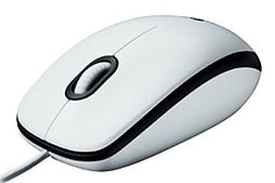 Mouse M100 White USB Optical Wired PC
