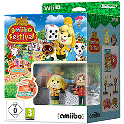 Animal Crossing amiibo Festival with Isabelle and Digby amiibo and amiibo Card Pack Wii U Cover Art