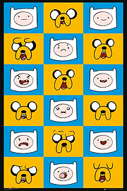 Adventure Time Expressions AT Poster 61x91.5cm Posters