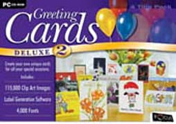 Greeting Cards Deluxe 2 (4 Softwares Packages to make Greeting Cards) PC