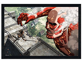 Attack on Titan Black Wooden Framed Colossal Titan Maxi Poster 91.5x61cm Posters