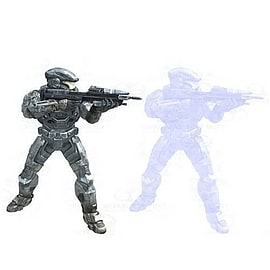 Halo Reach: Series 4 - 2 Packs Noble Six and Noble Six Hologram Action Figure Figurines and Sets