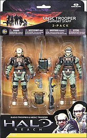 Halo Reach: Series 3 UNSC Trooper Support Staff - Medic Trooper and Radio Support Action Figures Figurines and Sets