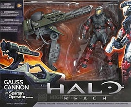 Halo Reach Warthog Gauss Cannon with Spartan Operator Warthog Accessory Set Figurines and Sets