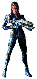 Mass Effect 3 Play Arts Kai Ashley Williams Figure Figurines and Sets