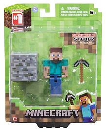 Minecraft Overworld 3 Inch Figure STEVE Figurines and Sets