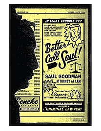 Better Call Saul Gloss Black Framed Maxi Poster 61x91.5cm Posters