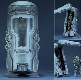 Halo 4 - Series 1 - Frozen Master Chief in CryoTube - Deluxe Figure Figurines and Sets