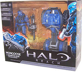 Halo Reach Mongoose with Spartan EOD and Rocket Launcher Vehicle and Figure Set Figurines and Sets