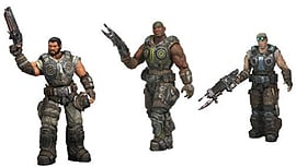 Gears Of War 3 Series 2 - Dominic Santiago + Damon Baird + Augustus Cole - Bundle TRIPLE Pack Figurines and Sets