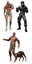 Resident Evil Archives 7 Inch Action Figures - Series 3 (Hunk + Tyrant + Crimson Head Zombie) Figurines and Sets