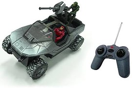 Halo Silver 7.5 Full Function R/C Arctic Warthog with Master Chief and Red Spartan Mark VI Figurines and Sets
