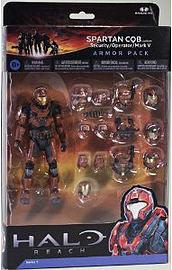 Halo Reach Series 5 - 2 Packs: Spartan CQB Custom and 3 sets of Armour (Steel) Action Figure Figurines and Sets