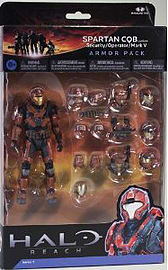 Halo Reach Series 5 - 2 Packs: Spartan CQB Custom and 3 sets of Armour (Rust) Action Figure Figurines and Sets