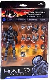Halo Reach Series 5 - 2 Packs: Spartan Gungnir Figure and 3 Sets of Armour (Steel) Action Figure Figurines and Sets