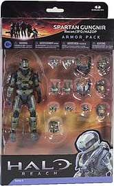 Halo Reach Series 5 - 2 Packs: Spartan Gungnir Figure and 3 Sets of Armour (Sage) Action Figure Figurines and Sets