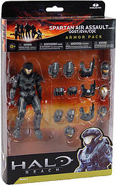 Halo Reach: Series 4 Spartan Air Assault and 3 Sets of Amour (Steel) Action Figure Figurines and Sets