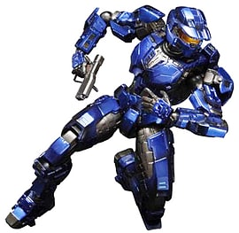 Halo Combat Evolved Play Arts Kai Spartan Mark V Blue Action Figure Figurines and Sets