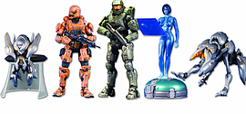 Halo 4 Series 1 Five Figure Set Figurines and Sets