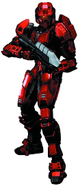 Halo Play Arts Kai: Red Spartan Action Figure Figurines and Sets