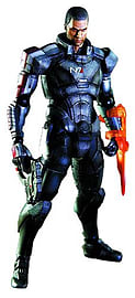 Mass Effect 3 Play Arts Commander Shepard Figure Figurines and Sets