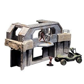 Halo Micro Ops Series 1: High Ground Gate with Warthog and 2 Spartans Figurines and Sets
