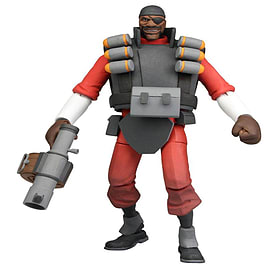 Team Fortress 7inch Deluxe Series 1 Figure Red Demo Man Figurines and Sets