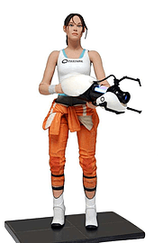 Portal Chell with Light Up ASHPD 7 Action Figure Figurines and Sets