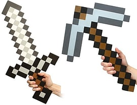 Minecraft Iron Foam Sword and Iron Pickaxe Combo Set Of 2 Memorabilia