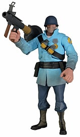 Team Fortress 7 inch Ultra Deluxe Figure Series 2 Soldier Blu Figurines and Sets