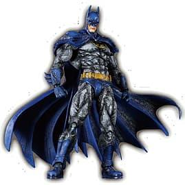 Batman Arkham City Play Arts Kai Batman 1970s Batsuit Skin Figurines and Sets