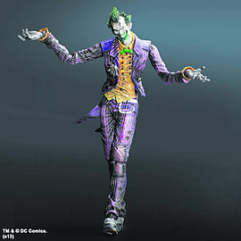 Batman Arkham City Play Arts Kai Batman The Joker Figurines and Sets