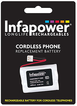 Infapower 3x AAA Ni-Mh 600mAH Cordless Phone Replacement Batteries PC