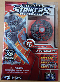 Battle Strikers Turbo Tops Team Paladin X-Calibur XS Figurines and Sets