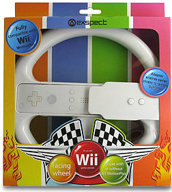 Exspect Motion Steering Wheel - White (Wii MotionPlus compatible) Wii