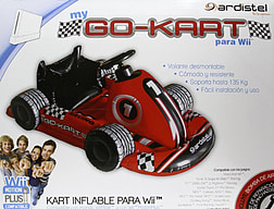 Wii Inflatable Racing Kart with Steering Wheel Wii