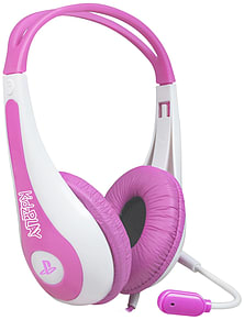 Kidzplay Stereo Gaming Headset - Pink PS3