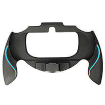 ZedLabz soft touch controller grip handle attachment for Sony PS Vita PSV - (Black & blue) PS Vita
